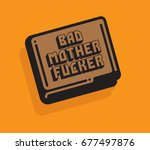 bad mother fucker wallet vector ...