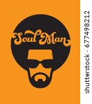 soul man retro illustration... | Shutterstock .eps vector #677498212