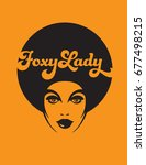 foxy lady retro illustration... | Shutterstock .eps vector #677498215