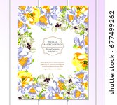 vintage delicate invitation...   Shutterstock . vector #677499262