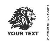 lion head roaring. mascot logo... | Shutterstock .eps vector #677500846