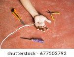 electric shock  | Shutterstock . vector #677503792