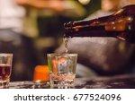 drink alcohol. | Shutterstock . vector #677524096
