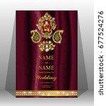 luxury wedding invitation card... | Shutterstock .eps vector #677524276