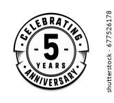 5 years anniversary logo... | Shutterstock .eps vector #677526178