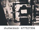 detail of professional camera... | Shutterstock . vector #677527306