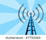 blue wireless technology tower...   Shutterstock .eps vector #67753360