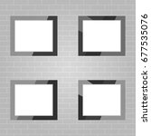photo frames  a set of photo... | Shutterstock .eps vector #677535076