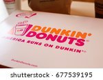 Small photo of Half Moon Bay, California – July 12, 2017: A photo taken in Dunkin' Donuts in Half Moon Bay roughly 11 month after the store opening here in August 2016 as part of their reentry to the Bay Area.