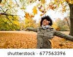 teen carefree girl enjoy the... | Shutterstock . vector #677563396