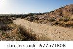 Dirt Road Inside Vasquez Rocks...