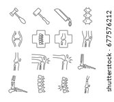 set of joints related vector... | Shutterstock .eps vector #677576212
