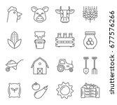 set of farming related vector...   Shutterstock .eps vector #677576266