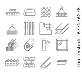 set of building construction... | Shutterstock .eps vector #677576278