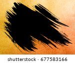 colorful watercolor brush stroke | Shutterstock . vector #677583166