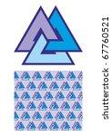 viking magic symbol seamless... | Shutterstock .eps vector #67760521