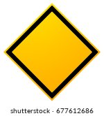 square empty warning sign... | Shutterstock . vector #677612686