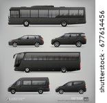 set of hi detailed passenger... | Shutterstock .eps vector #677614456