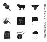 national symbols of scotland....   Shutterstock . vector #677617498