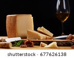 close up of a parmesan cheese... | Shutterstock . vector #677626138