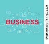 banner in creative concept. | Shutterstock . vector #677631325