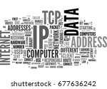 what is tcp ip text word cloud... | Shutterstock .eps vector #677636242