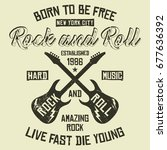 new york city rock and roll ... | Shutterstock .eps vector #677636392