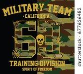 california military team ...   Shutterstock .eps vector #677636482