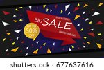 sale banner template design | Shutterstock .eps vector #677637616