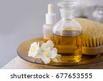 aromatherapy essential oils in... | Shutterstock . vector #677653555