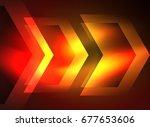 digital technology glowing... | Shutterstock .eps vector #677653606