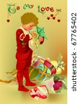 Vintage Love Card (vector) - stock vector