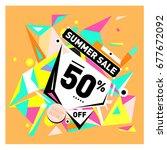 summer sale geometric style web ...   Shutterstock .eps vector #677672092