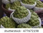 cherimoya  also spelled... | Shutterstock . vector #677672158