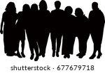 a family portrait silhouette... | Shutterstock .eps vector #677679718