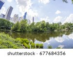 panoramic of central park and...   Shutterstock . vector #677684356
