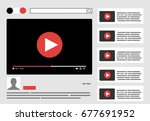 view video clips in the browser ... | Shutterstock .eps vector #677691952
