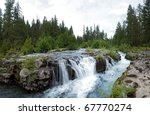 Waterfalls On Upper Rogue River.