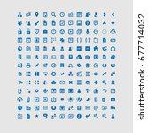 a collection of icons for use... | Shutterstock .eps vector #677714032