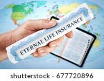 concept of god's eternal life... | Shutterstock . vector #677720896