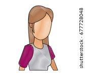 portrait woman character female ... | Shutterstock .eps vector #677728048
