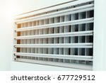air duct in square shape on... | Shutterstock . vector #677729512