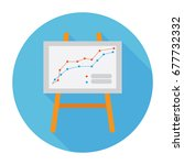 graph presentation vector icon | Shutterstock .eps vector #677732332