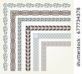 Set Of Decorative Seamless...
