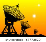 black silhouettes of radars on...   Shutterstock .eps vector #67773520
