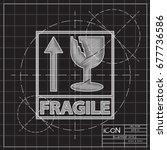 vector blueprint fragile icon...   Shutterstock .eps vector #677736586