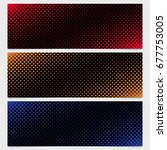 abstract halftone square...   Shutterstock .eps vector #677753005