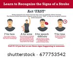 stroke.learn to recognize the... | Shutterstock .eps vector #677753542