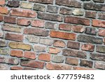 vintage brick wall    stone... | Shutterstock . vector #677759482