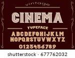 font. alphabet. script....   Shutterstock .eps vector #677762032